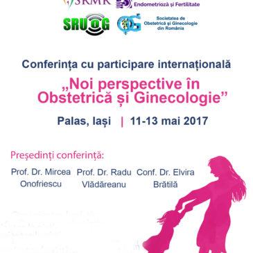 Noi perspective în Obstetrică și Ginecologie – Iași 11-13 mai