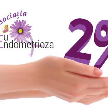 Redirecționează 2% din impozitul pe venit către Asociația Eu și Endometrioza!