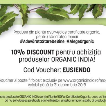 Reduceri Organic India pentru membrii Asociației Eu și Endometrioza!