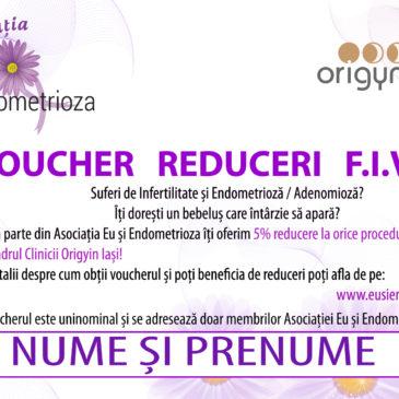 Reduceri la proceduri F.I.V și consultații medicale pentru membrii Asociației Eu și Endometrioza
