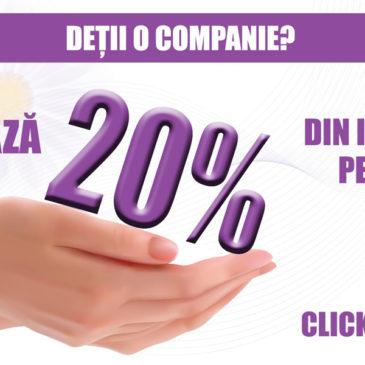 Companiile pot redirecționa 20% din impozit către Asociația Eu și Endometrioza!