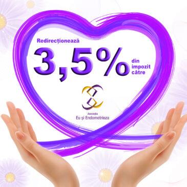 Redirecționează 3.5% din impozitul pe venit către Asociația Eu și Endometrioza!